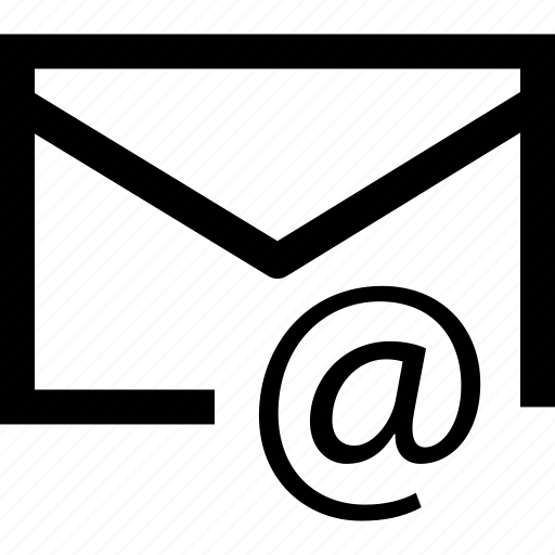 at, connection, email, mail icon