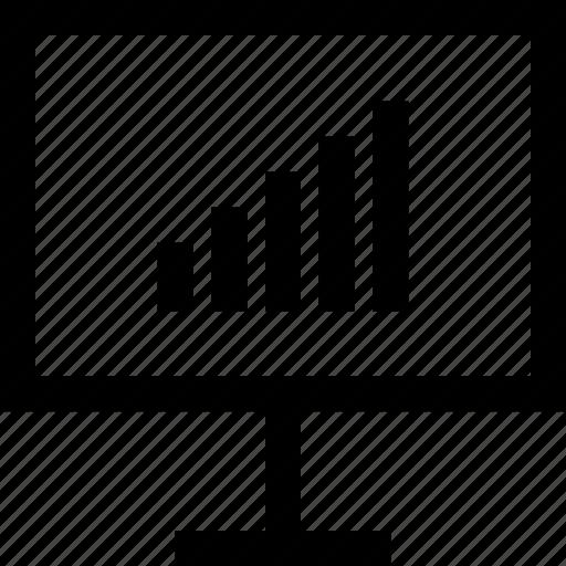bars, data, high, up icon