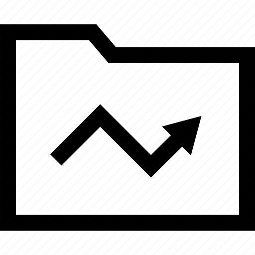 arrow, folder, high, sale icon