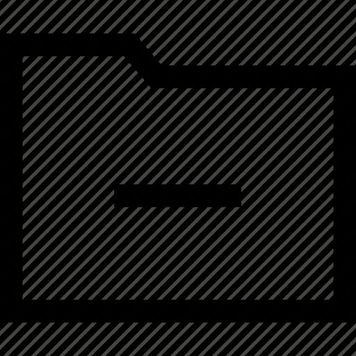 folder, line, web icon