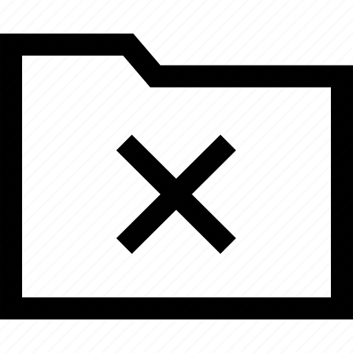 delete, denied, stop, x icon