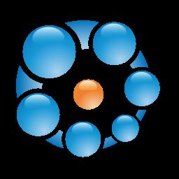 ball, balls, blue, concept, connection icon