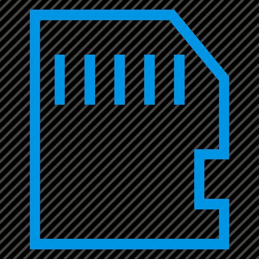 card, data, memory, memorycard, micro, sd, storage icon