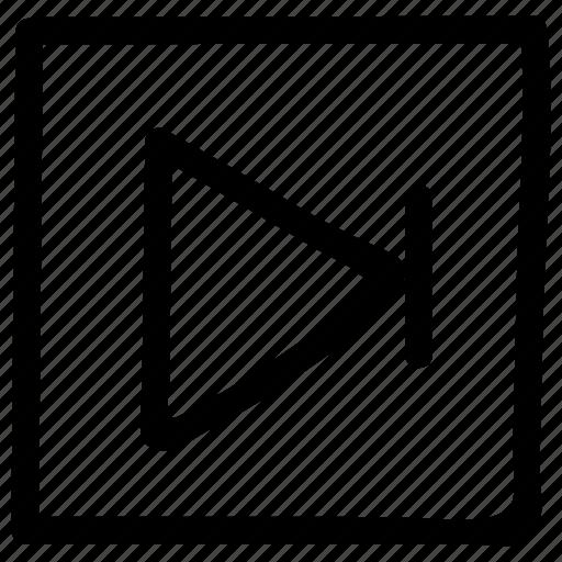 arrow, forward, move, next, right, videos icon