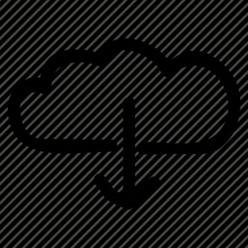 cloud, data, database, download, network, server, storage icon