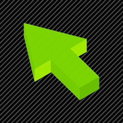 arrow, click, computer, cursor, icon vector, isometric, pointer icon