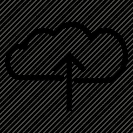 arrow, cloud, data, file, multimedia, storage, upload icon
