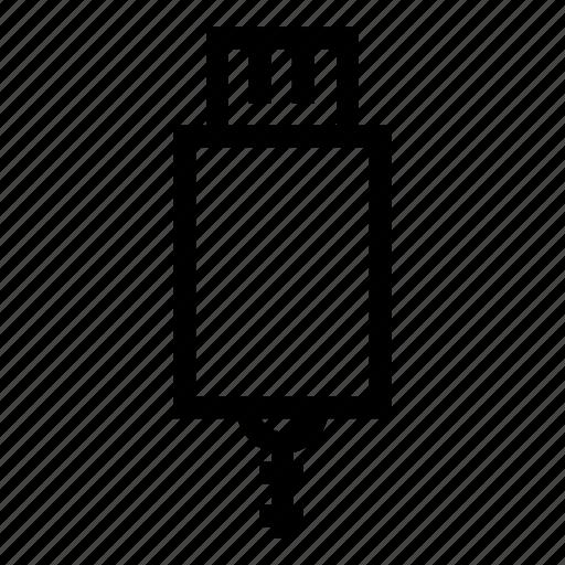 data, device, flash, memory, storage, technology, usb icon