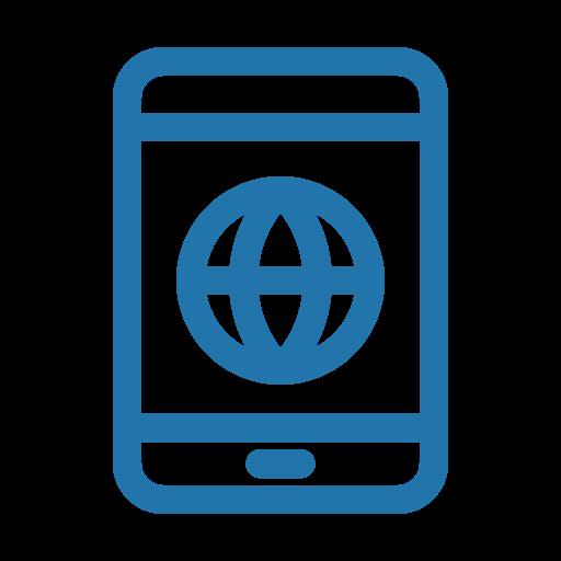 internet, line, smartphone icon