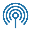 antenna, internet, line icon