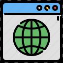 browser, globe, website, internet