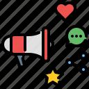 campaign, megaphone, advertising, promotion, social media