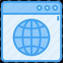 browser, globe, internet, website