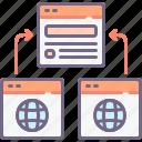 backlink, hyperlink, link icon