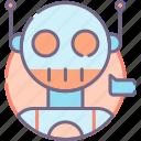 bot, robot, technology icon
