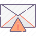 letter, alert, mail icon