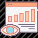 analysis, impressions, statistic