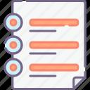 arrangement, document, index icon
