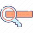 keyword, search, stuffing icon
