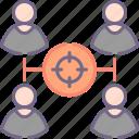 lead, target, team icon