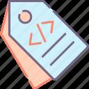 label, meta, tags icon