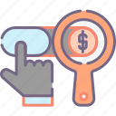 cost, paid, search, traffic icon