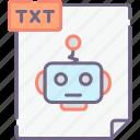 bots, robots, txt icon