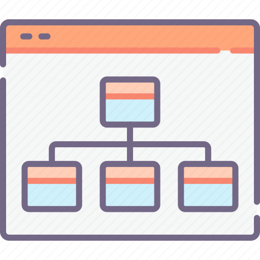 chart, hierarchy, sitemap icon