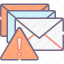 alert, email, mail, spam