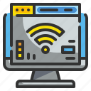 browser, computer, internet, technology, wifi icon