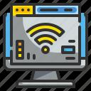 browser, computer, internet, technology, wifi