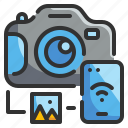 camera, digital, photograph, picture, technology icon