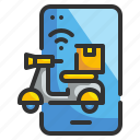 delivery, internet, online, phone, shipping icon