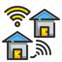 communication, home, houses, internet, wifi icon