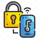 lock, padlock, secure, security, technology icon