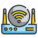 connection, internet, routers, wifi, wireless icon