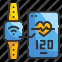 date, electronics, smart, time, watch