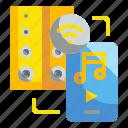 electronics, internet, music, speakers, technology icon