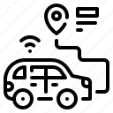 car, gps, location, pin, transport icon