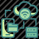 cloud, database, internet, network, server icon