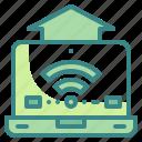 internet, laptop, notebook, technology, wifi icon