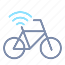 bicycle, connection, internet, iot, things, wifi, wireless icon