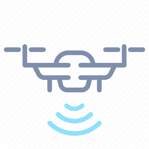 connection, drone, internet, iot, things, wifi, wireless icon