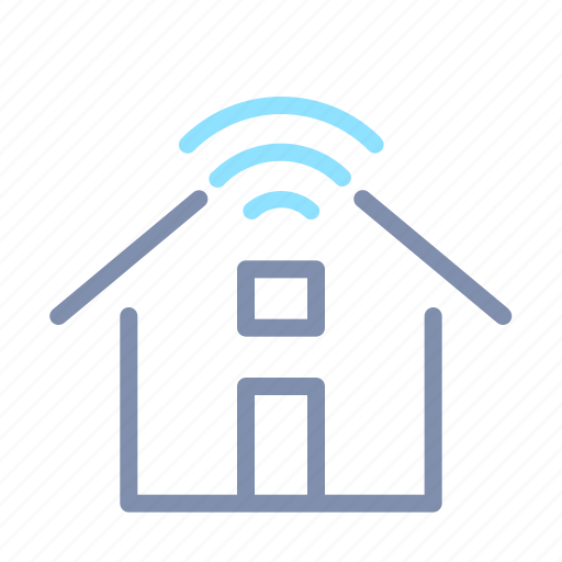 home, house, internet, iot, network, things, wireless icon