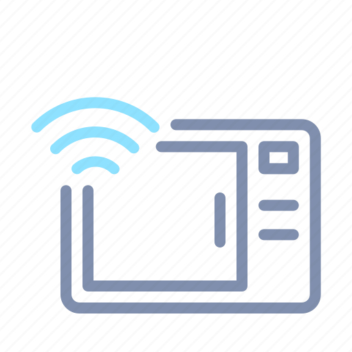 connection, internet, iot, microwave, things, wifi, wireless icon
