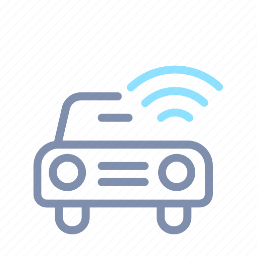 car, connection, internet, iot, smart, things, wireless icon