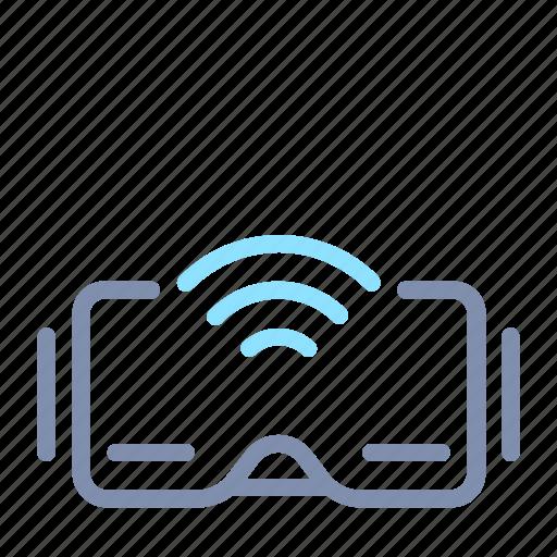 glass, internet, iot, things, virtual reality, vr, wireless icon