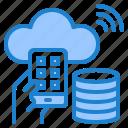 smartphone, internet, cloud, server, wifi