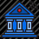 bank, internet, money, building, wifi