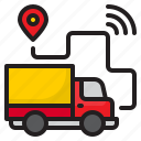 car, truck, delivery, wifi, location